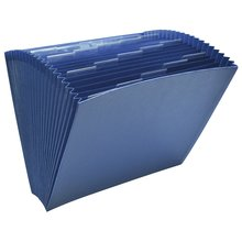 "Wilson Jones® ColorLife® Insertable 20-Tab Expanding File without Flap, 10"" x 12"", Letter Size, Dark Blue"