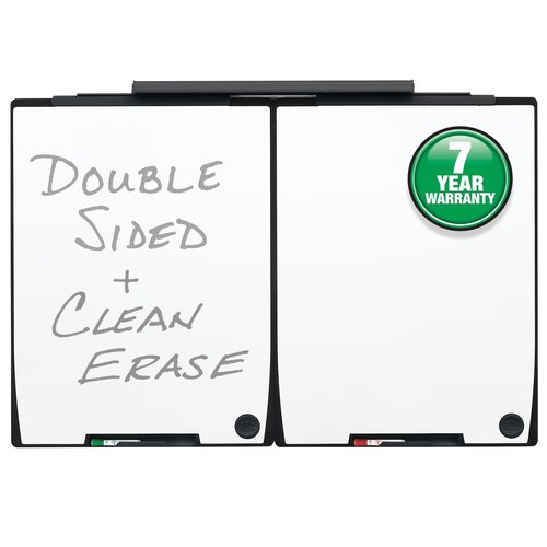 "Quartet Motion® Board and Track Set, Two 30"" x 40""Whiteboards, 30"" Mounting Track"