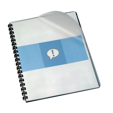 "Clear View® Presentation Covers, Premium Plus Frost Poly, 14 Mil, 100 pcs, Index allowance, 11 x 9"", square corners, Unpunched"