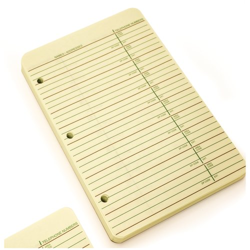 Wilson Jones® 812 Telephone Address Book - Refill Pages, 80 Sheets, Green