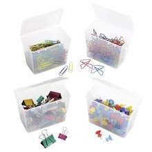 ACCO® Clip Pack, Paper Clips, Binder Clips, Butterfly Clips, Push Pins, 625 Item Total