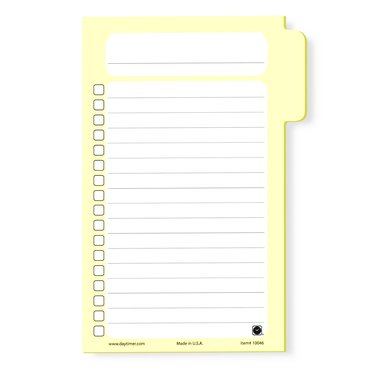 Tabbed Self-Stick Hot Lists