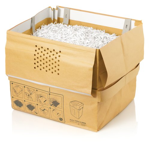 Swingline® 21 Gallon Recyclable Paper Shredder Bags, For Stack-and-Shred™ 500X, 500M, 600X and 600M Auto Feed Shredders, 5/Pack