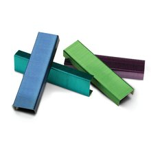 "Swingline® Color Bright Staples, 1/4"" Leg Length, Assorted Colors, 2,000 Per Box"