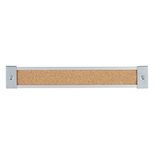 "Quartet® Map Rail, Cork Surface, 144""L x 2""W"