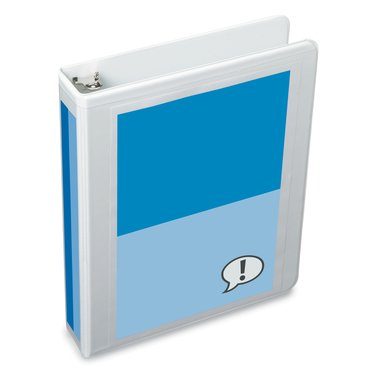 "Deluxe 8.5"" x 5.5"", Small-Size Binders, White D Ring, 1"", 220 sheet capacity, 12 pcs"