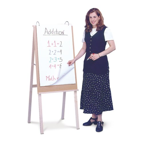 "Quartet® Heavy Duty Teacher's Easel, 54"", Hardwood Display Ledge"