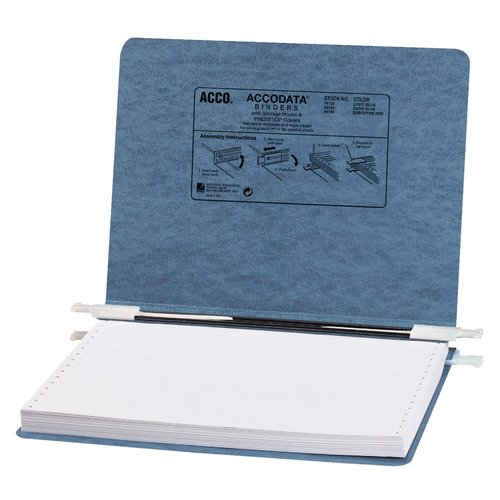 "ACCO® PRESSTEX® Covers with Storage Hooks, For Unburst Sheets, 12"" x 8 1/2"" Sheet Size"