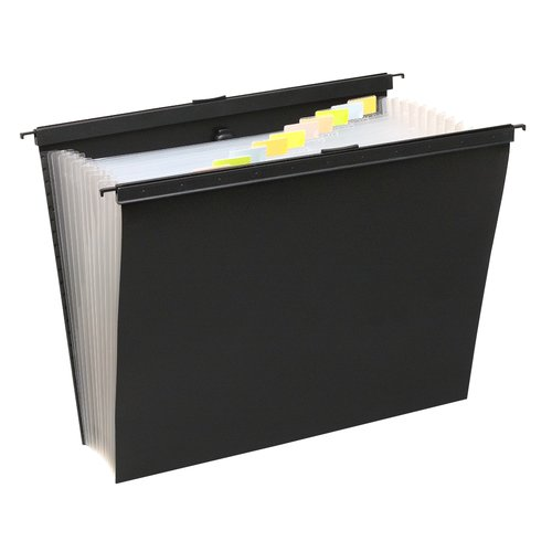 "Wilson Jones® Slide-Bar Expanding File, 13 Pockets, 15"" Expansion, Letter Size"