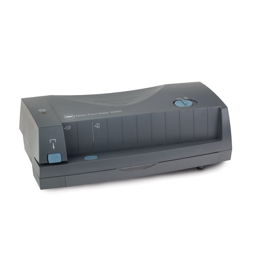GBC® 3230ST Electric Punch/Stapler, 2 - 3 Holes, Adjustable Centers, 24 Sheets