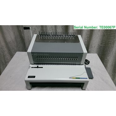 "Reconditioned GBC® CombBind® C800pro Electric Binding Machine, Binds 500 Sheets, Punches 25, 12"" Max Width"