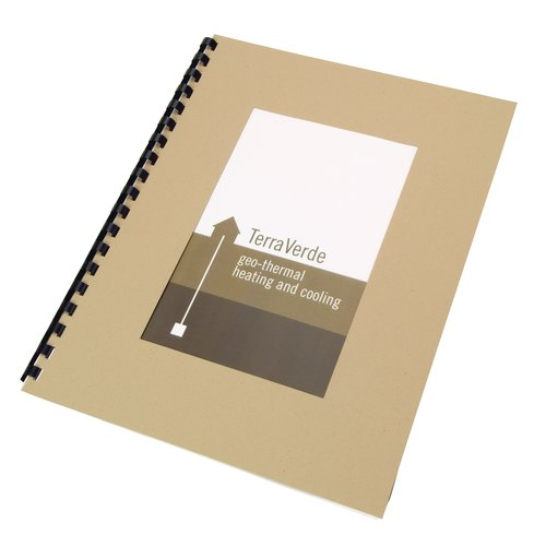 "100% Recycled Paper Cover Sets, Front Cover with Large window, Brown 11 x 8.5"" unpunched, 100 sets"