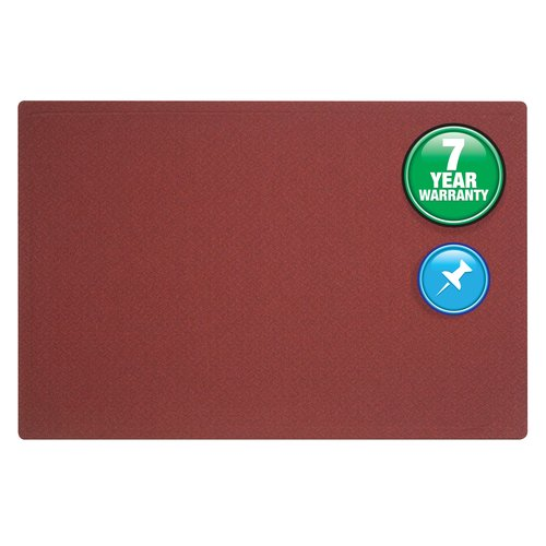 Quartet® Oval Office™ Fabric Bulletin Board, 3' x 2', Frameless, Port Burgundy