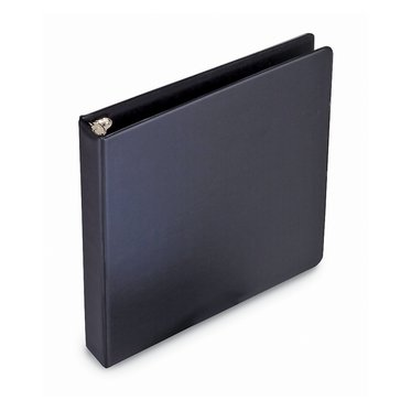 "Economy Presentation Binder, Black Round Ring, 1/2"", 100 sheet capacity, 12 pcs"