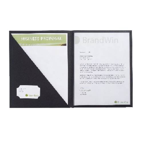 GBC® Cover Letter Portfolio, 30 Sheets, Black, 4/Pack