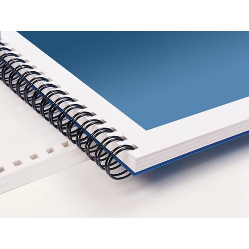 "WireBind Binding Spines, Blue 3:1 Pitch, 3/8"", 75 sheet capacity, 100 pcs"