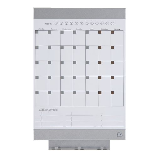 "Quartet® Envi™ Monthly Whiteboard Calendar, 11"" x 17"", Magnetic Surface"