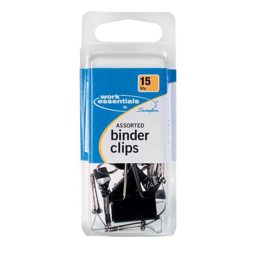 ACCO® Binder Clips, Assorted Sizes, 15/Pack