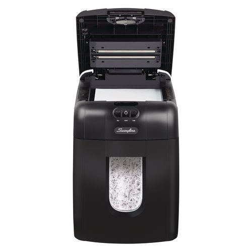 Swingline® Stack-and-Shred™ 130X Auto Feed Shredder, Super Cross-Cut, 130 Sheets, 1-2 Users