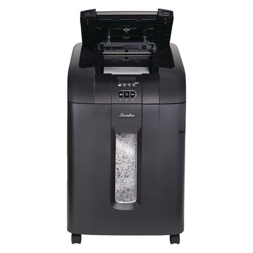 Swingline® Stack-and-Shred™ 600M Auto Feed Shredder, Micro-Cut, 600 Sheets, 10-20 Users