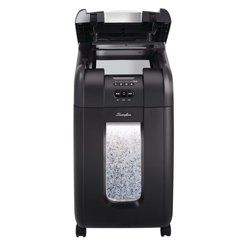 Swingline® Stack-and-Shred™ 300M Auto Feed Shredder, Micro-Cut, 300 Sheets, 5-10 Users