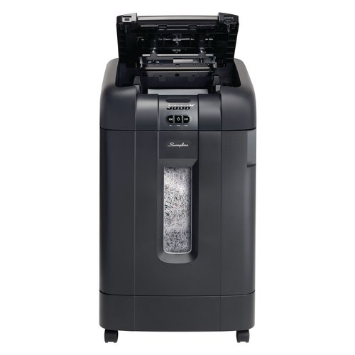 Swingline® Stack-and-Shred™ 750M Auto Feed Shredder, Micro-Cut, 750 Sheets, 20+ Users