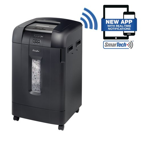 Swingline® Stack-and-Shred™ 750X Auto Feed Shredder, SmarTech™ Enabled, Super Cross-Cut, 750 Sheets, 20+ Users