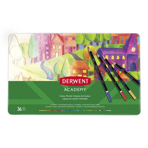 Derwent Academy Colouring 36 Tin