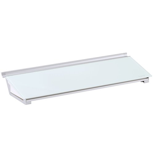 "Quartet® Glass Dry-Erase Desktop Computer Pad, 18"" x 6"", White Surface, Frameless"