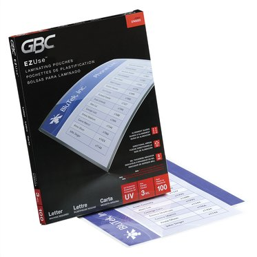 GBC EZUse Thermal Laminating Pouches, Letter Size, 3 mil, 100 Pack
