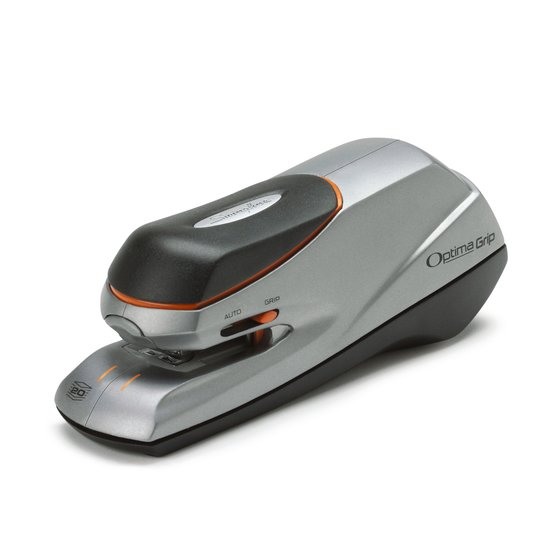 Swingline® Optima® Grip Electric Stapler, 20 Sheets, Silver