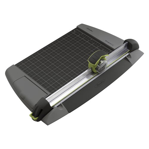 "Swingline® SmartCut® EasyBlade™ Plus Rotary Trimmer with Blade Cartridge, 12"" Cut Length, 15 Sheet Capacity"