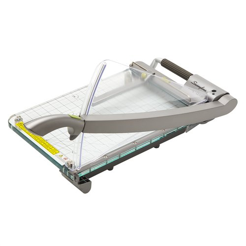 "Swingline® Infinity™ ClassicCut® CL410 Acrylic Guillotine Trimmer, 15"" Cut Length, 25 Sheet Capacity, Clear"