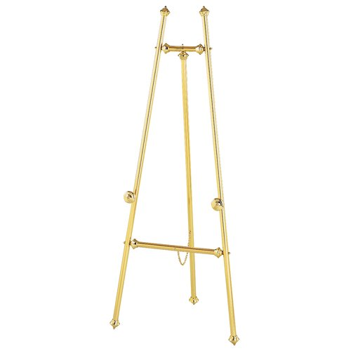 "Quartet® Decorative Brass Display Easel, 59"", Tripod Base"