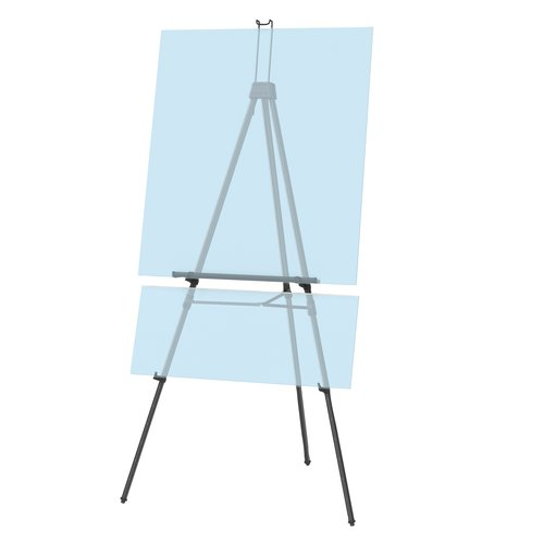 "Quartet® Aluminum Heavy Duty Display Easel, 66"" Max. Height, Supports 45 Lbs., Black"