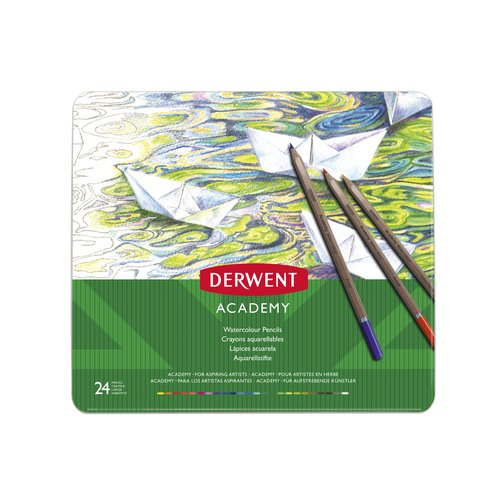 Derwent Academy Watercolour 24 Tin