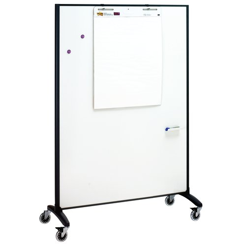 Quartet Motion® Room Divider, 4' x 6', DuraMax® Porcelain Whiteboard Surface