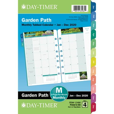 Garden Path 2-Page-Per-Month Monthly Tabbed Calendars