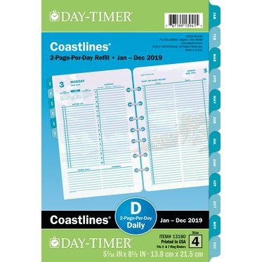 Desk size - Diary Refill - Coastlines 1-Page-Per-Day - January 21
