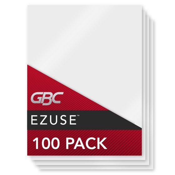 GBC EZUse Thermal Laminating Pouches, Menu Size, 3 mil, 100 Pack (3200720)