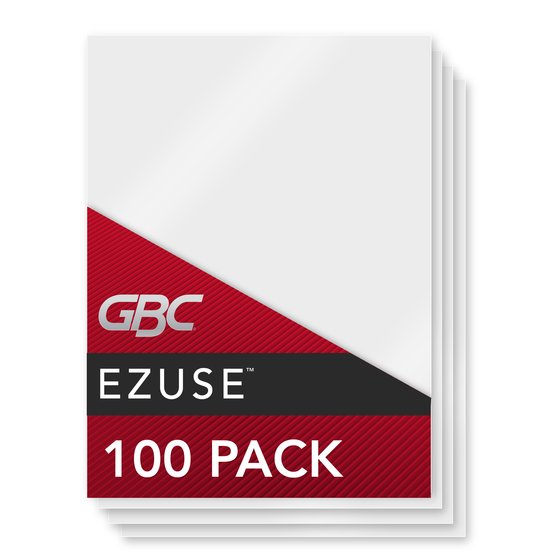 GBC EZUse Thermal Laminating Pouches, Legal Size, 5 mil, 100 Pack