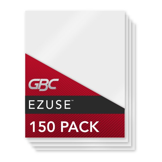 GBC EZUse Thermal Laminating Pouches, Letter Size, Speed Format, 5 mil, 150 Pack (3740724)