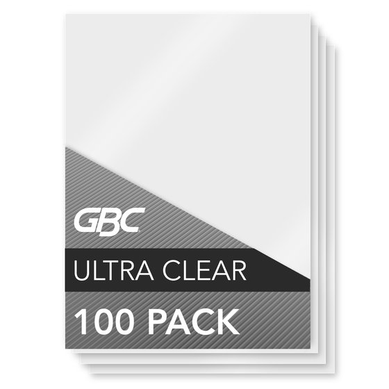 GBC Ultra Clear Thermal Laminating Pouches, Menu Size, 3 mil, 100 Pack