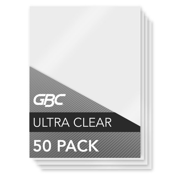 GBC Ultra Clear Thermal Laminating Pouches, Menu Size, 10 mil, 50 Pack (3200420)