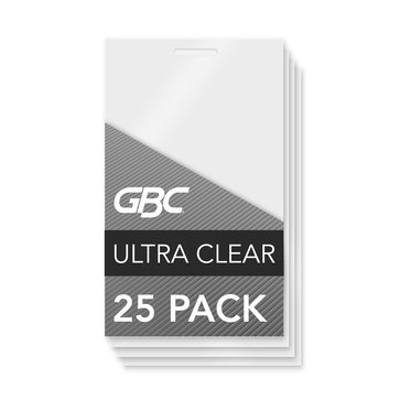 GBC Ultra Clear Thermal Laminating Pouches, Luggage Tag with Loops Size, 5 mil, 25 Pack (3202005)