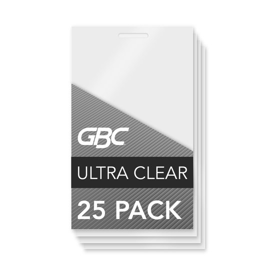 GBC Ultra Clear Thermal Laminating Pouches, Luggage Tag Size, 5 mil, 25 Pack