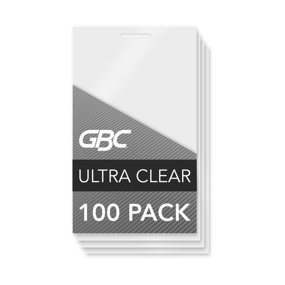 GBC Ultra Clear Thermal Laminating Pouches, Business Card Size, 5 mil, 100 Pack