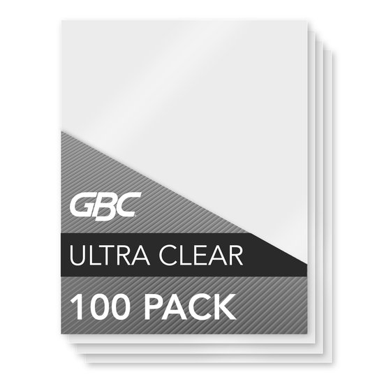 GBC Ultra Clear Thermal Laminating Pouches, Legal Size, 3 mil, 100 Pack