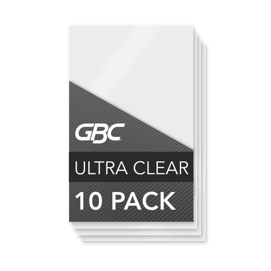 GBC Ultra Clear Thermal Laminating Pouches, Photo Size, 5 Mil, 10 Pack