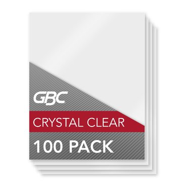GBC HeatSeal Crystal Clear Laminating Pouches, Letter Size, 5 mil, 100 Pack